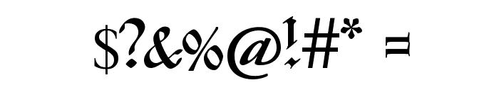 Kanzleyrath Font OTHER CHARS