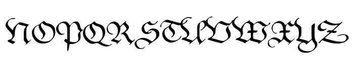 Kanzleyrath Font UPPERCASE