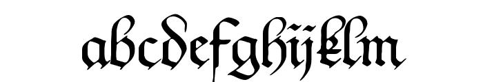 Kanzleyrath Font LOWERCASE