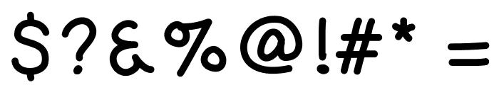KaoriGelBold Font OTHER CHARS