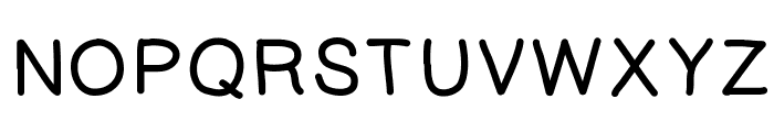 KaoriGelBold Font UPPERCASE