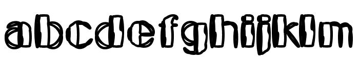 Kaptain Toupe Font LOWERCASE