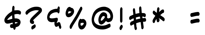 Karatula Normal Font OTHER CHARS