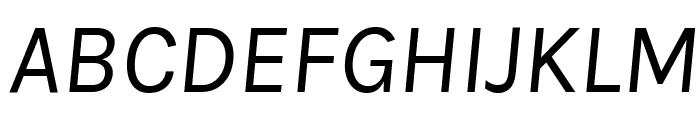 Karla Italic Font UPPERCASE