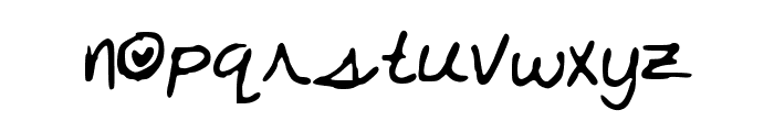 Karly_s_Alt Font LOWERCASE