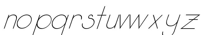 Kata Bidalan Italic Font LOWERCASE