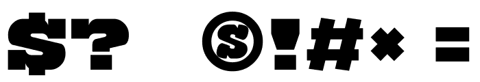 Katamari Serif Font OTHER CHARS