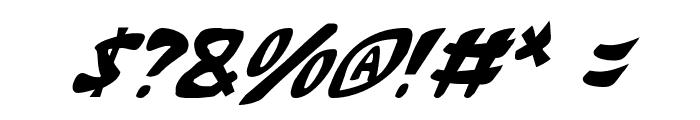 Katana Italic Font OTHER CHARS