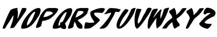 Katana Italic Font UPPERCASE