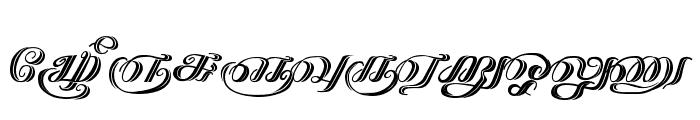 Kathanakuthugalam Regular Font UPPERCASE