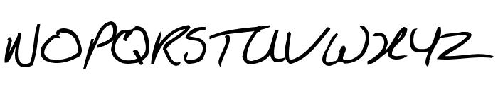 KathleenBold Font UPPERCASE