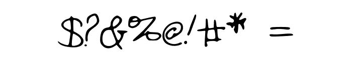 KatieThompsonsHandwriting Font OTHER CHARS