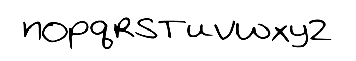 KatieThompsonsHandwriting Font LOWERCASE