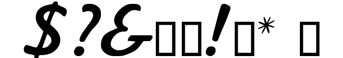 Kavaler Kursive Font OTHER CHARS