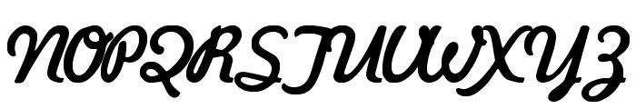Kavaler Kursive Font UPPERCASE