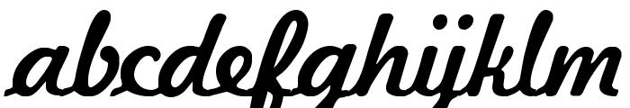 Kavaler Kursive Font LOWERCASE