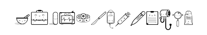 Kawaii Medical Font LOWERCASE