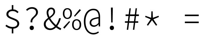 KawkabMono-Light Font OTHER CHARS