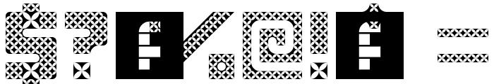 Kawung Textile Regular Font OTHER CHARS