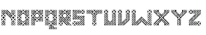 Kawung Textile Regular Font LOWERCASE