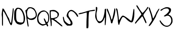 KaylaHand Font UPPERCASE