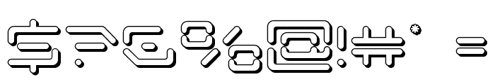 Kaylon 3D Font OTHER CHARS