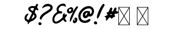 Kaysan Signature Font OTHER CHARS