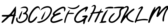 Kaysan Signature Font UPPERCASE