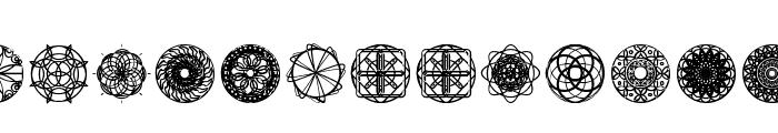 kaleidoscopic Mind Font UPPERCASE