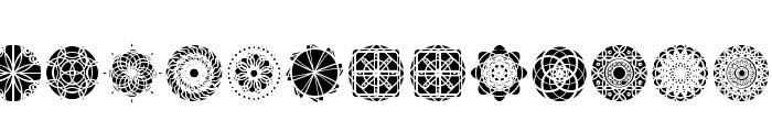 kaleidoscopic Mind Font LOWERCASE