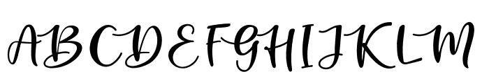 kallithea Regular Font UPPERCASE