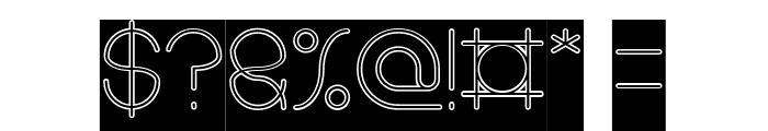 karitza-Hollow Font OTHER CHARS