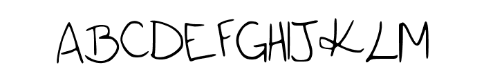 katieish Font UPPERCASE