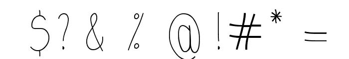 kaus Tripa Font OTHER CHARS
