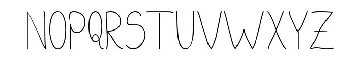 kaus Tripa Font UPPERCASE