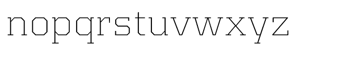 Kairos Extended Extra Light Font LOWERCASE
