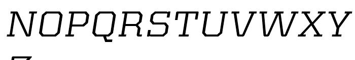 Kairos Extended Italic Font UPPERCASE