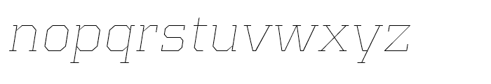 Kairos Extended Thin Italic Font LOWERCASE