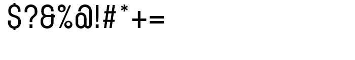 Karben 105 Medium Font OTHER CHARS