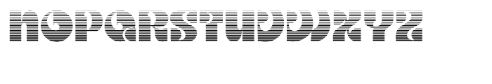 Kare Gradient Font UPPERCASE