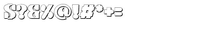 Kare Shadow Regular Font OTHER CHARS
