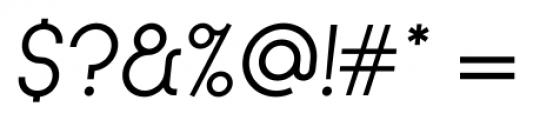Kamerik 105 Cyrillic Book Oblique Font OTHER CHARS