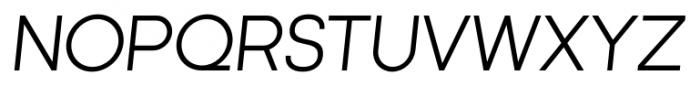 Kamerik 105 Cyrillic Book Oblique Font UPPERCASE
