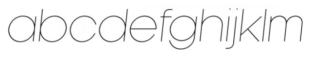 Kamerik 105 Cyrillic Thin Oblique Font LOWERCASE