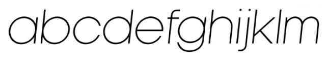 Kamerik 105 Light Oblique Font LOWERCASE