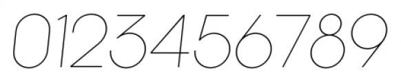 Kamerik 105 Thin Oblique Font OTHER CHARS