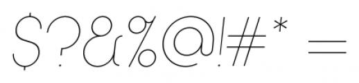 Kamerik 205 Thin Oblique Font OTHER CHARS