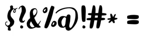 Karlita Regular Font OTHER CHARS