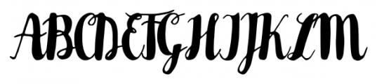 Karlita Regular Font UPPERCASE