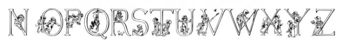 Kate Greenaways Alphabet Regular Font UPPERCASE